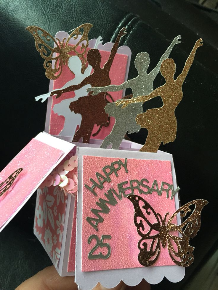 Cricut all occasions box card no 22 with die cuts and handmade modge podge glitter card. Made by me today