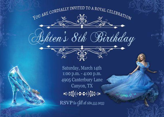 Cinderella Movie Invitation Cinderella by BelleAmitieDesigns