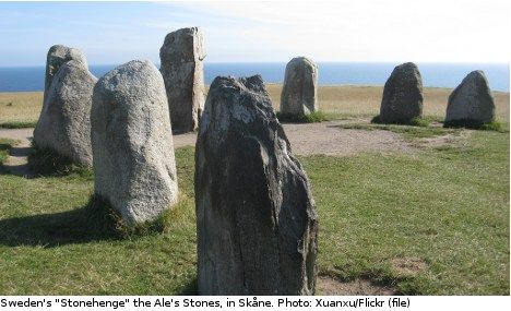 Ancient tomb found at 'Sweden's Stonehenge' Swedish archaeologists have unearthed what is presumed to be a dolmen, or a portal tomb, that is believed to be over 5,000 years old near the megalithic monument Ale's stones in southern Sweden.