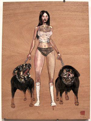 Rotts by David Choe Frice Show 2006 mixed media art