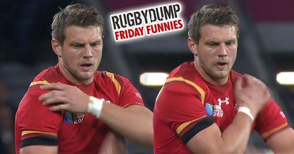 Friday Funnies - Dan Biggar's bizarre kicking ritual, the Biggar Shuffle — Rugby videos of tackles, tries, funny incidents and more – Rugbydump.com