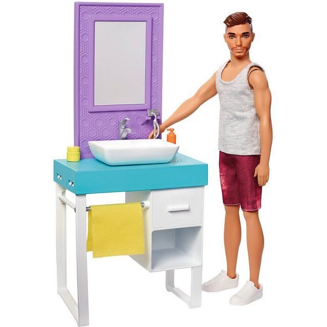 Barbie Ken Rasierspa Szlig Spielset In 2020 Barbie Badezimmer Barbie Zubehor Barbie
