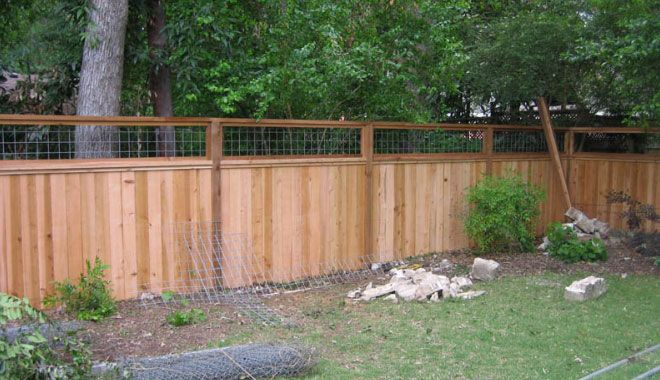 Privacy Fence With Cattle Panel Insert Wood Fence Wood