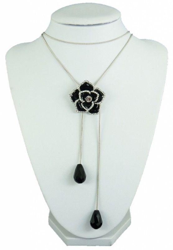 Náhrdelník bolo černá růže 10836 | Bižuterie Kozák
