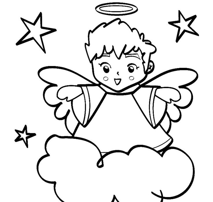 christmas boy angel coloring pages - photo#14