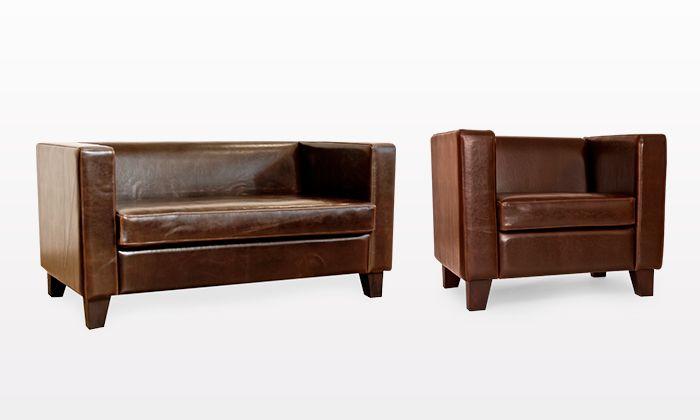 SOFA MOENA Wytrzymała, skórzana sofa o charakterystycznym, klasycznym kształcie i eleganckiej barwie. W połączeniu z fotelem Moena stworzy idealny komplet dla pewnego siebie mężczyzny.