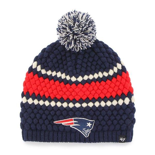 ab1d58d0cad2d0 New England Patriots 47 Brand Women's Navy Leslie Beanie Hat | New ...