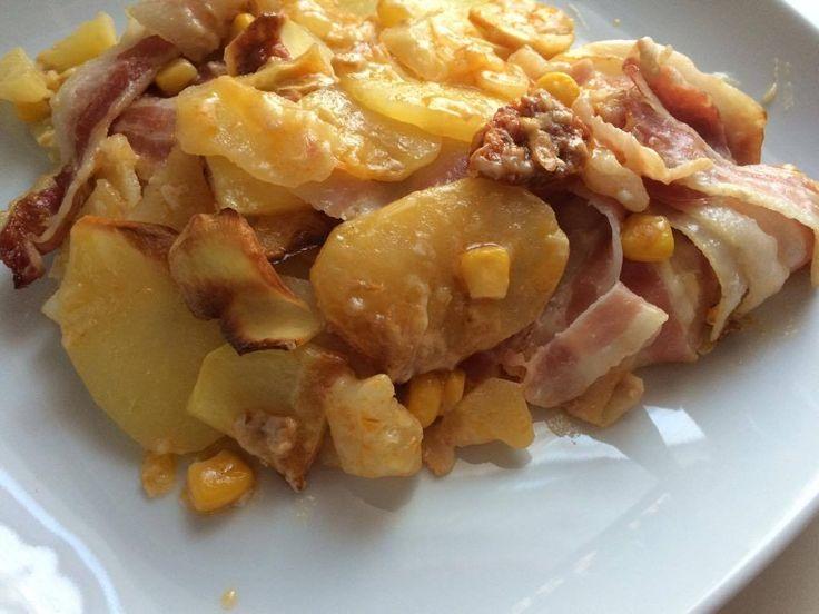 Ananászos baconös rakott krumpli