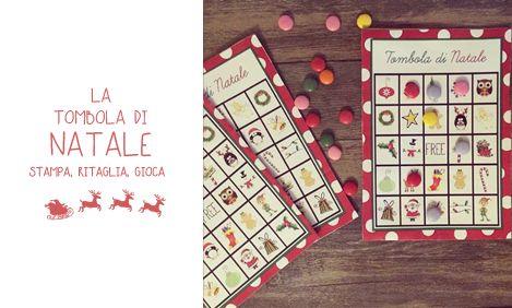Tombola di Natale | MiniFactory tombola gratis da stampare free printables bingo per bambini Riciclo creativo di Natale attività natalizie, calendario dell'avvento advent calendar activity diy & craft per bambini for kids
