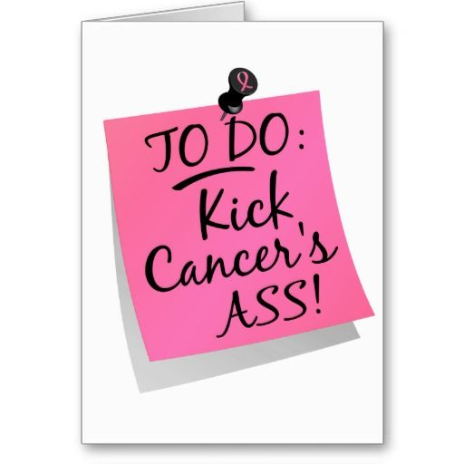 To Do - Kick Cancers Ass Breast Greeting Card