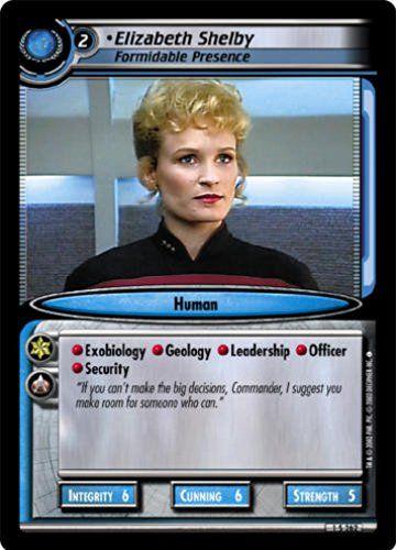 STAR TREK CCG 2E SE SECOND EDITION ELIZABETH SHELBY FORMIDABLE PRESENCE 1S262 @ niftywarehouse.com