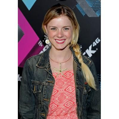 Laura Slade Wiggins in Pink Dress and Jeans Jacket