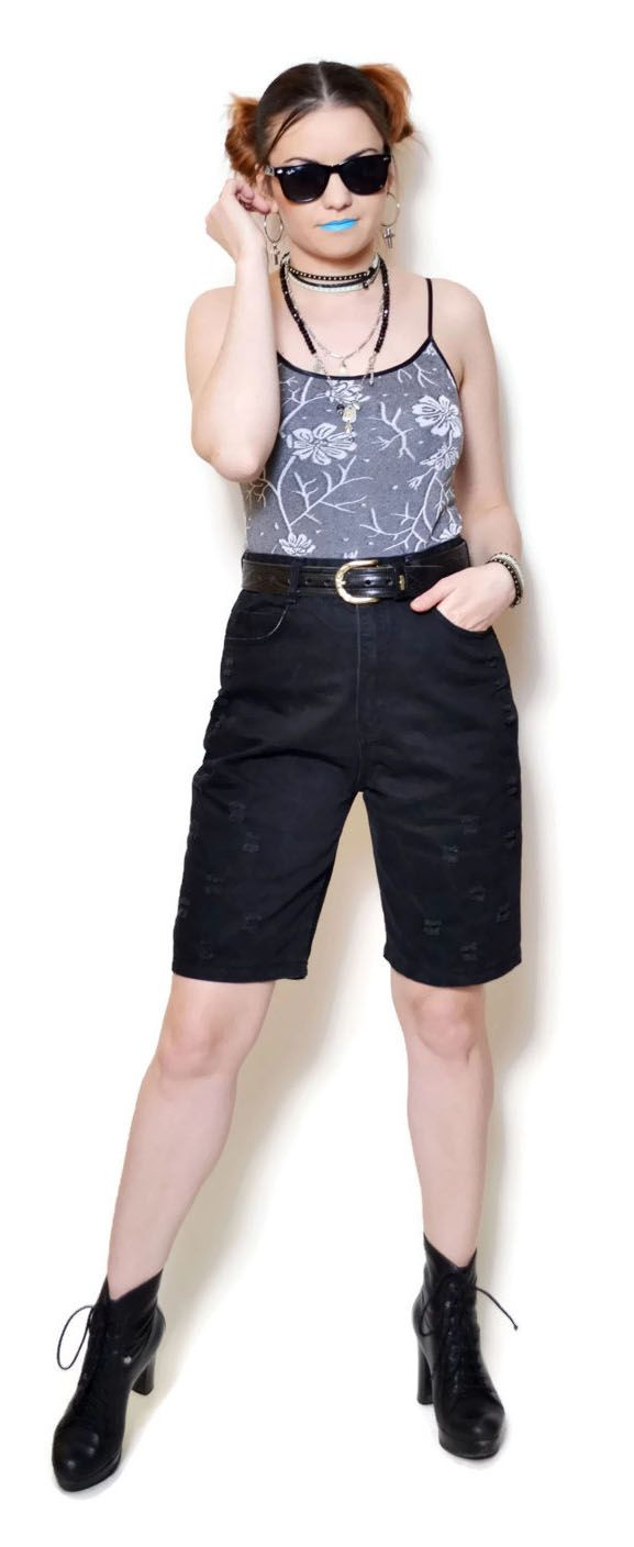 Nice distressed shorts #distressed #jeans