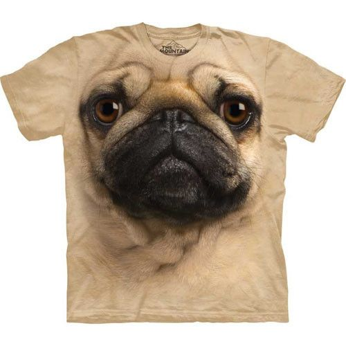 Pug Big Face Kids Mountain T Shirt - yourgifthouse