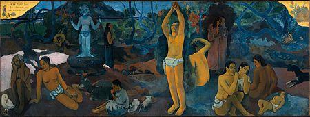 Paul Gauguin - Keitä me olemme (1897) symbolismi