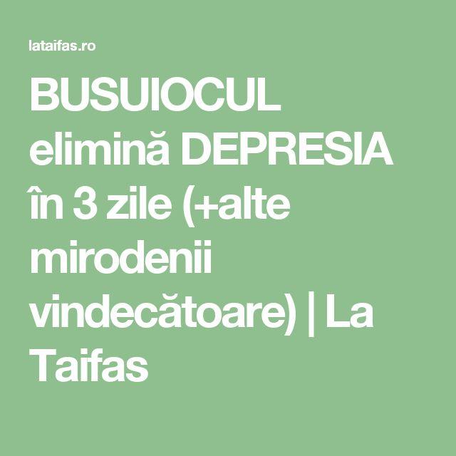 BUSUIOCUL elimină DEPRESIA în 3 zile (+alte mirodenii vindecătoare) | La Taifas