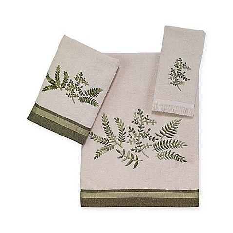 Avanti Greenwood Bath Towel Collection In Ivory Bath Towels