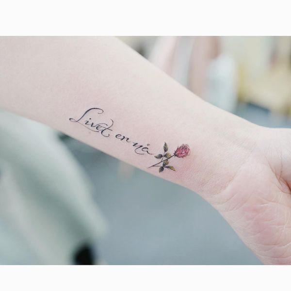 The Wrist Tattoo With The Popular Phrase Wrist Tattoos For Women Tattoos For Women Wrist Tattoos