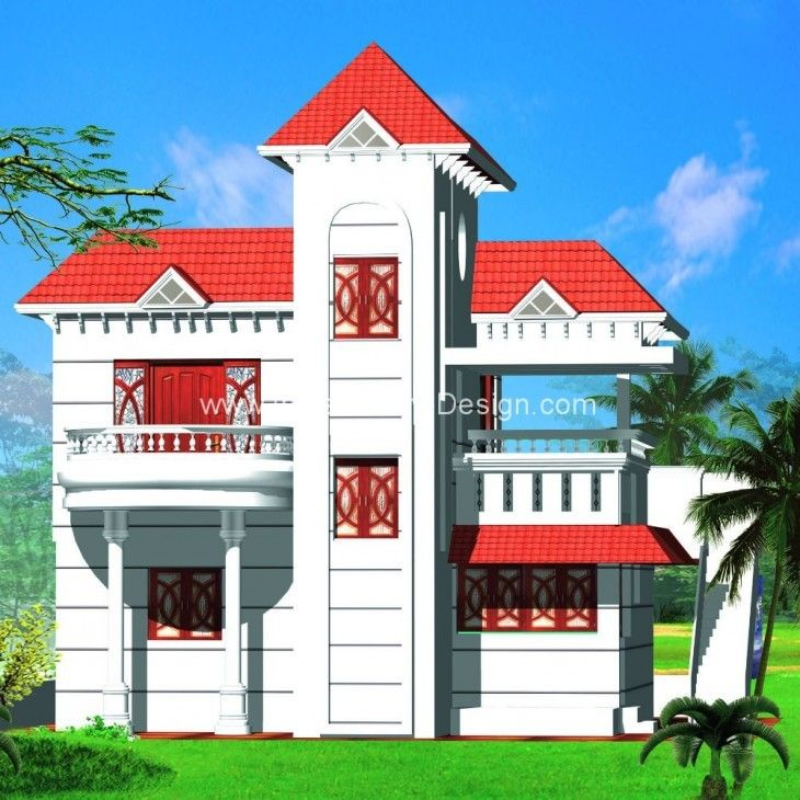 Kerala Style Taper Roof House Elevation In 2080 Sq Ft House Roof House Elevation House Styles