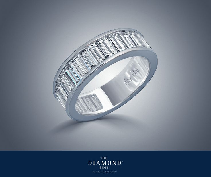 Don't miss out on  this impressive discounted baguette cut diamond ring! This eternity ring was meticulously crafted with captivating symmetry and channel set baguettes forged in 18K white gold. Twenty two diamonds of excellent quality make up this beautiful 'stand alone' ring. Look no further!  Explore now > http://goo.gl/BE3E0z Find our Store > http://goo.gl/rd6uVI