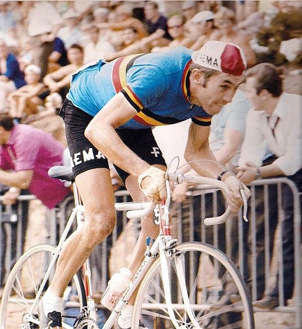 Eddy Merckx representing Belgium at the World Championships, racing on home soil at Zolder, 10 August 1969.