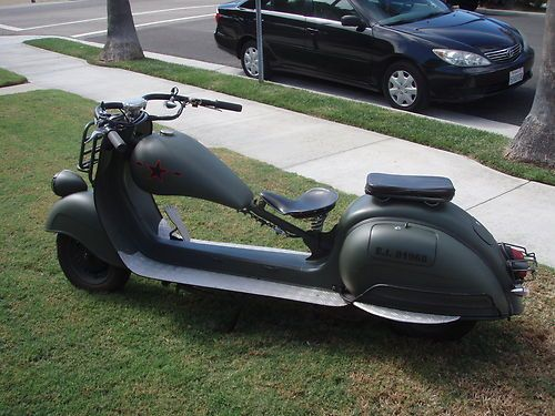 "1959 Vespa vba 150cc, custom Vespa-chop & stretched 12""in & dropped 2""in"