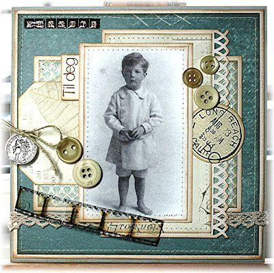Kreativ Hobby - stempler, scrapping, kortlaging og papirhobby Knapper - tips til bruk av knapper på kort