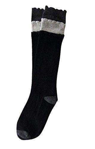cae5e65e4 Little Cutie presents Trim Fit Trim Fit Girls Sparkly Layered Ruffle Knee  Socks