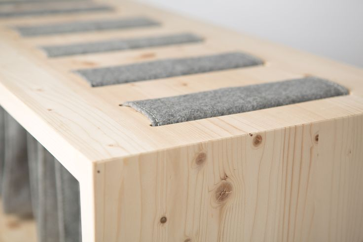 """Why hide the stiching if it can work as another decorative element - """"Storage Bench"""" by Frederika Fačkovcová"""