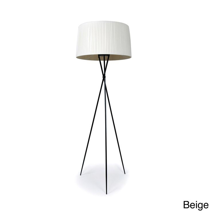 Transform your home into a cheerful and stylish atmosphere with this informal Sticks table lamp. This modern floor lamp is made of three black metal legs that are topped with a banded fabric shade for a clean and chic appearance.