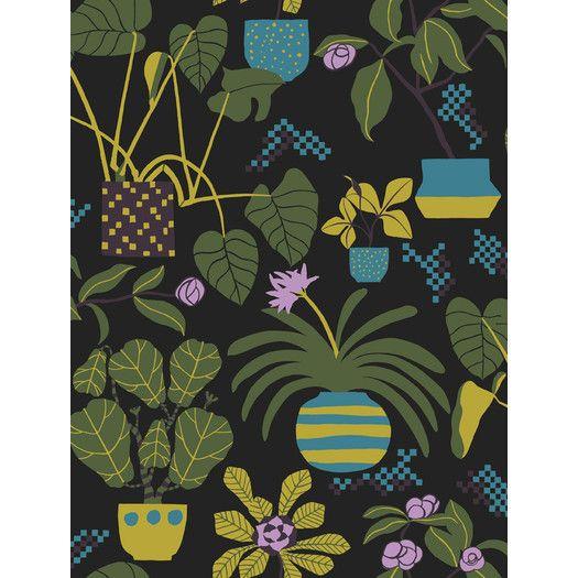"Marimekko Volume 4 Ikkunaprinssi 33' x 21"" Botanical Wallpaper | AllModern"
