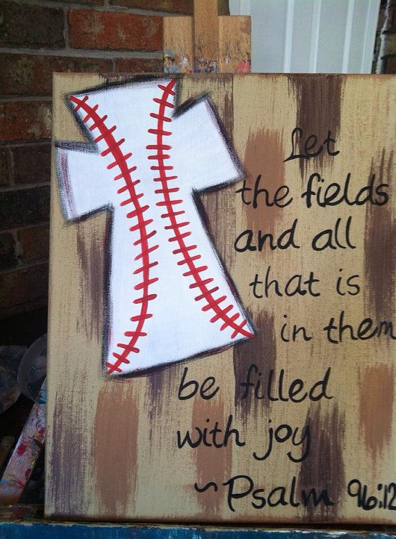 Psalm 96:12 baseball cross on Etsy, $20.00