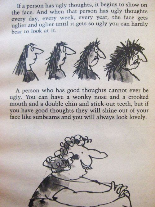 Roald Dahl...I read this as a kid and it makes even more sense as an adult...funny how that happens...