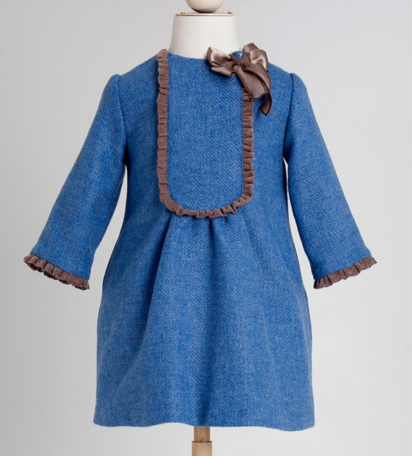 FINA EJERIQUE GORGEOUS ROYAL BLUE DRESS WITH 3/4 LENGTH SLEEVE