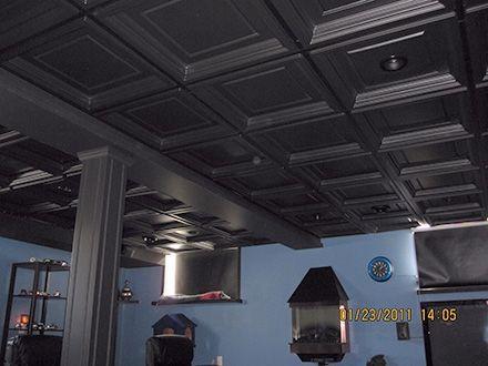 Decorative Suspended Ceiling Tiles Contour Acoustical Ceiling Tilesfor The Basement Ceiling