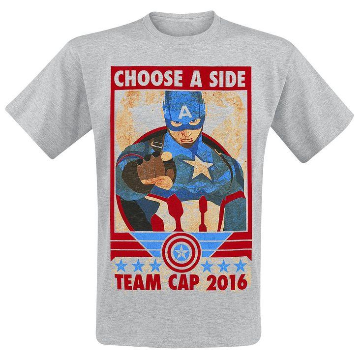 Captain America - Choose A Side - T-Shirt by Captain America Civil War