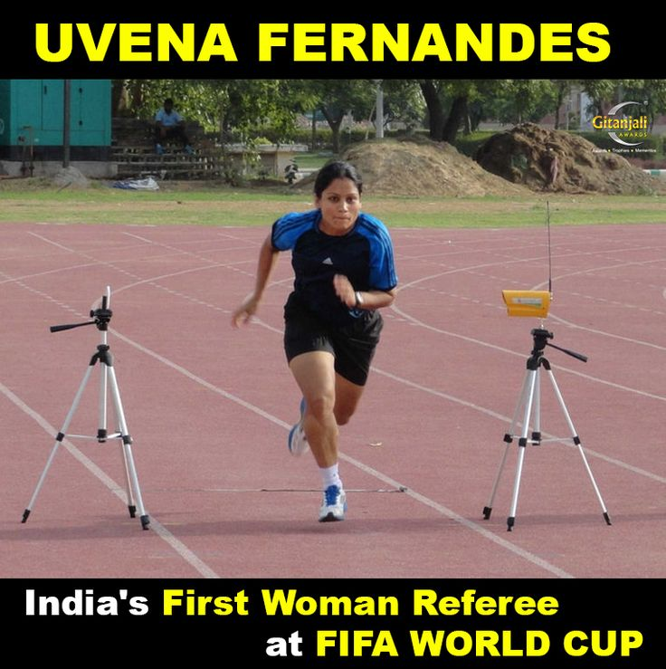 #UvenaFernandes becomes India's First Woman Referee at #FIFA #WorldCup. Congratulations. Proud Moment!!
