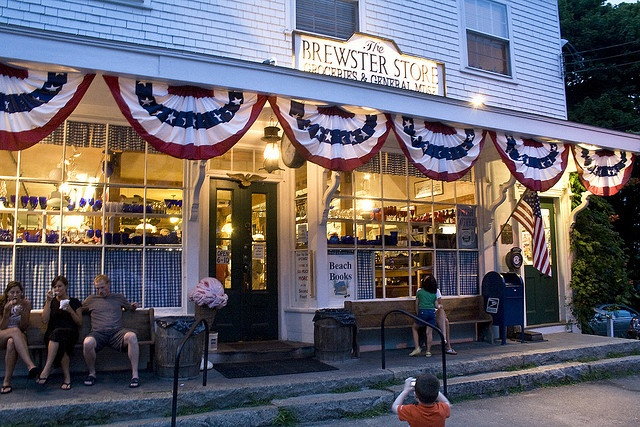 We invite you to step back in time to the Brewster Store which still has all the charm of a nineteenth century general store. Located on Route 6A in Brewster, Massachusetts, the 156-year-old structure was built as a church in 1852. The building was converted to a general store in 1866 and has continued to serve the needs of the local residents and visitors to the Cape for more than 140 years. Cape Cod
