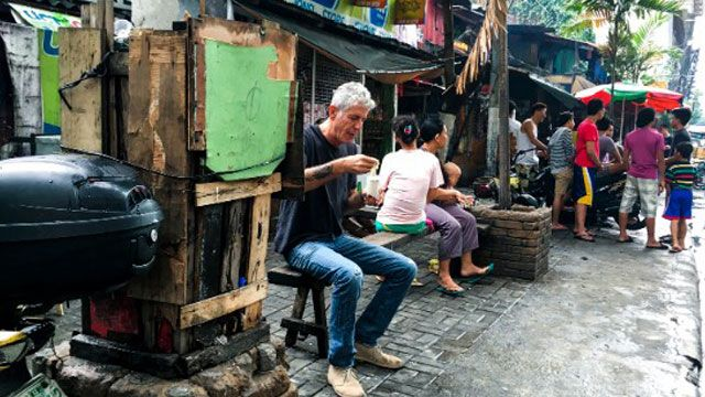 In the season opener of the show: street-side sisig, fast food chicken and spaghetti, and large doses of life in the Philippines.