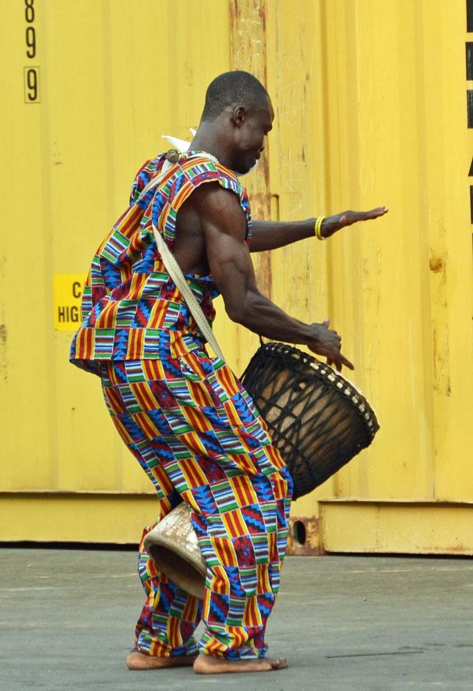 Africa   Drummer portside, Monrovia, Liberia    ©unknown, via Access Liberia