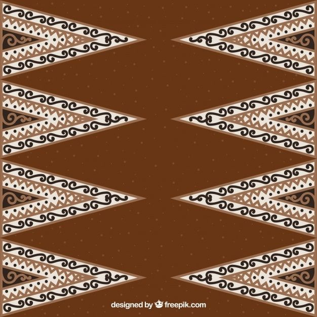 Ornamental Background Batik Of Triangles In 2021 Vector Free Book Design Inspiration Batik