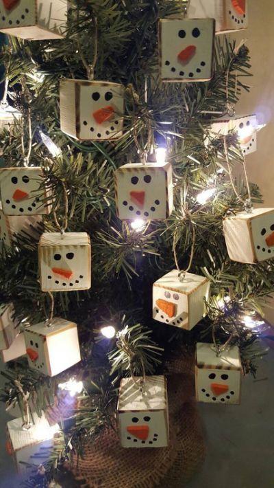 Homemade Primitive Christmas Tree Snowmen Pinterest Christmas