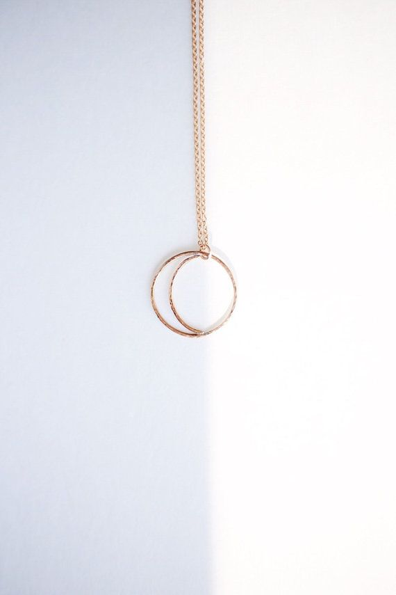 GOLD SUN + MOON // day + night // light + darkness // 14k gold filled // sun and moon necklace // crescent moon // eclipse