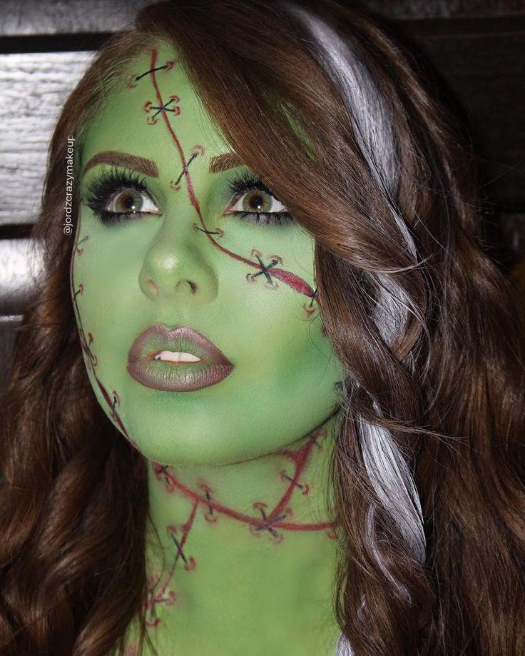 Bride of Frankenstein Makeup Look