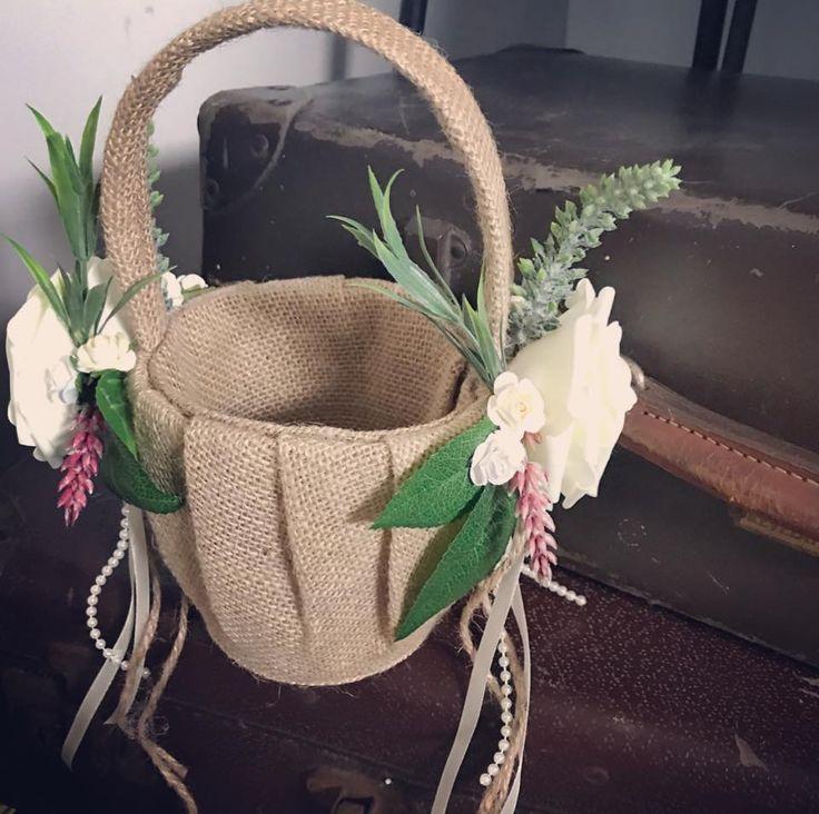 Rustic flower girl baskets