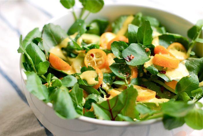 Watercress Salad with Kumquat Dressing: Brooklyn Suppers, Watercress Kumquat, Salad Recipes, Kumquat Dresses, Kumquat Salad, Salad Dresses, Salad Wkumquat, Watercress Salad, Healthy Snacksfood