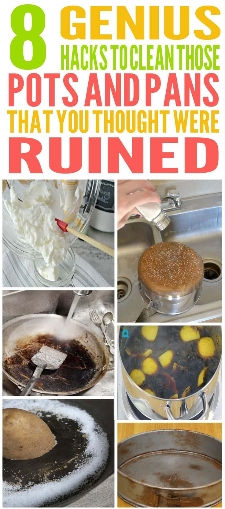 These are the BEST pots and pans cleaning hacks! Glad to have found these cleaning hacks. They'll already made my life a lot easier. Pinning for sure.