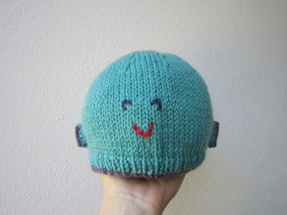 Fish hat beanie wool/silk/mohair children's by HotScones on Etsy, $28.00