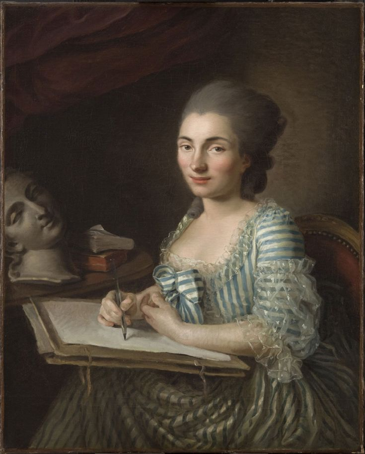 Portrait of a Woman Drawing  Artist/maker unknown, French?