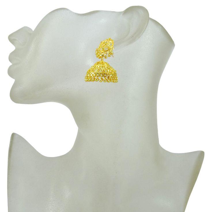 Goldplated Indian Bollywood Women Jhumka Earring Traditional Set Ethnic Jewelry in Украшения и часы, Модная бижутерия, Серьги   eBay
